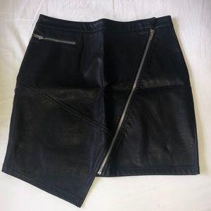 Vestique Black Leather Skirt